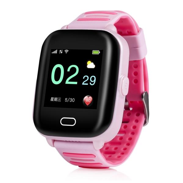 Ceas Inteligent cu GPS pentru copii WONLEX KT02 3G Roz, rezistent la apa, localizare WiFI si monitorizare spion