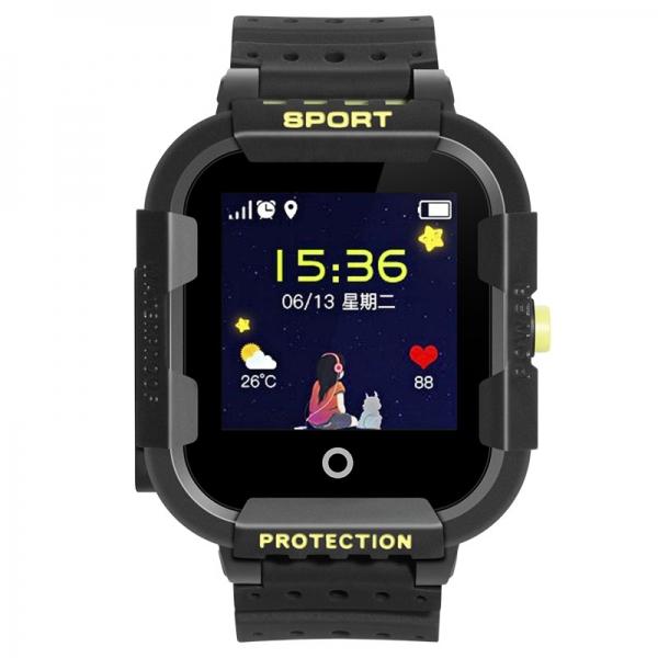 Ceas Inteligent cu GPS pentru copii WONLEX KT03 Negru, rezistent la apa, localizare WiFI si monitorizare spion