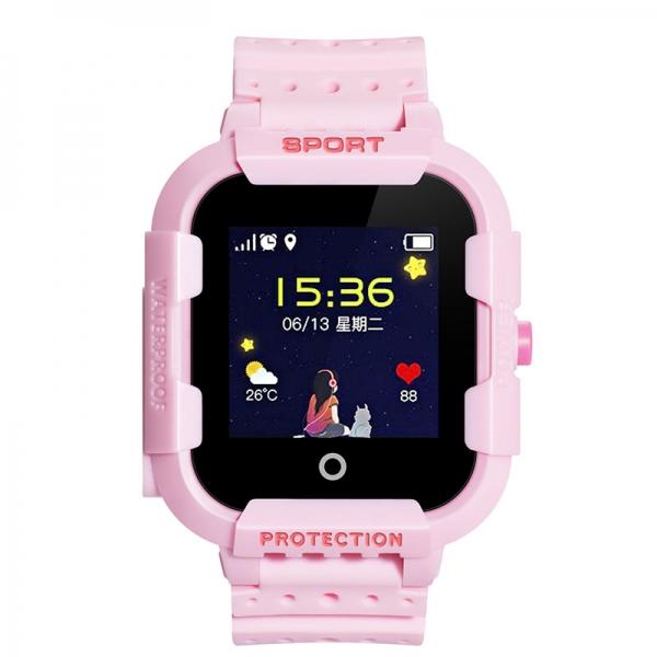 Ceas Inteligent cu GPS pentru copii WONLEX KT03 Roz, rezistent la apa, localizare WiFI si monitorizare spion 0