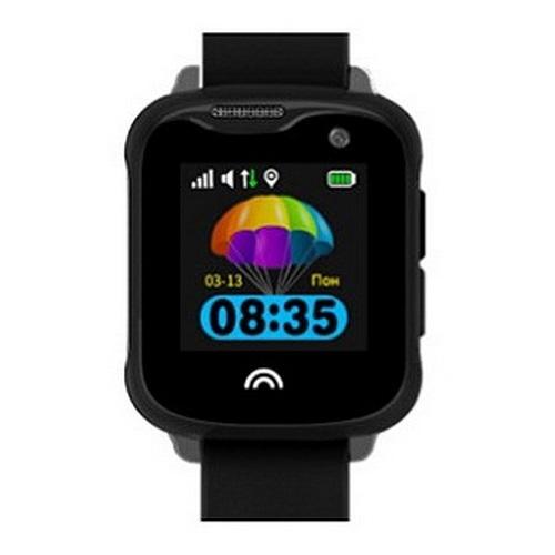 Ceas Inteligent cu GPS pentru copii WONLEX KT05 Negru, rezistent la apa, localizare WiFI si monitorizare spion 0
