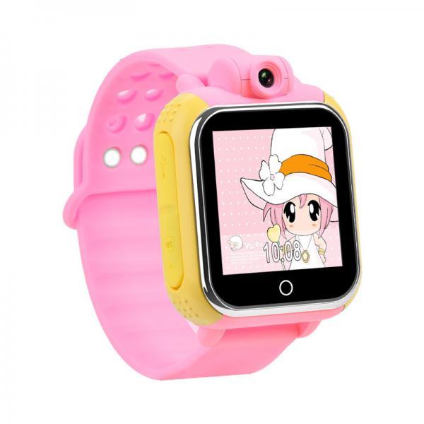 Ceas inteligent pentru copii cu telefon si localizare GPS GW1000 3G Roz (Digi)