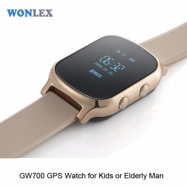 Ceas inteligent pentru copii cu telefon si localizare GPS GW 700 Gold