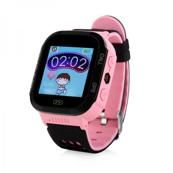 Ceas inteligent pentru copii WONLEX GW500S Roz cu GPS, telefon si monitorizare spion 0