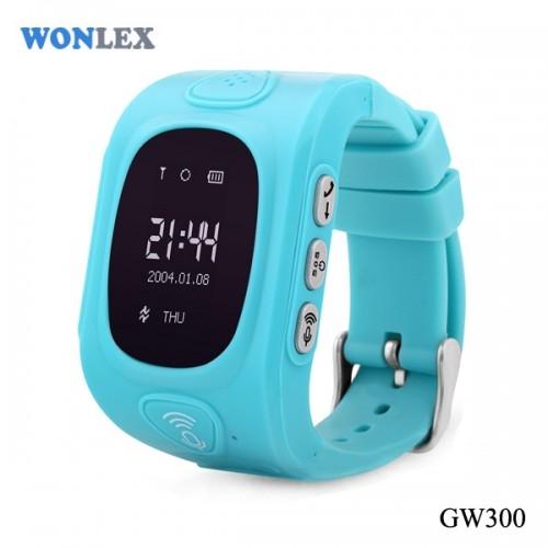 Ceas inteligent pentru copii GW300 Bleu cu telefon, localizare GPS&WiFi si monitorizare spion