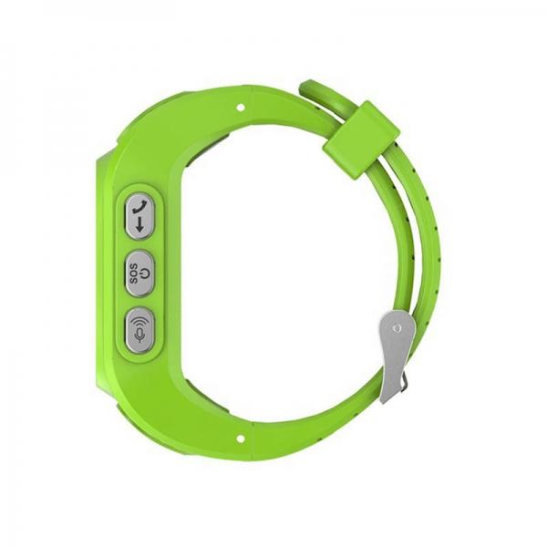 Ceas inteligent pentru copii GW300 Verde cu telefon, localizare GPS&WiFi si monitorizare spion
