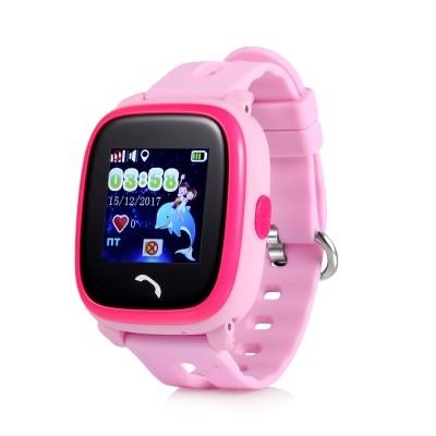 Ceas inteligent pentru copii WONLEX GW400S Roz cu GPS, rezistent la apa, localizare WiFi si monitorizare spion 0