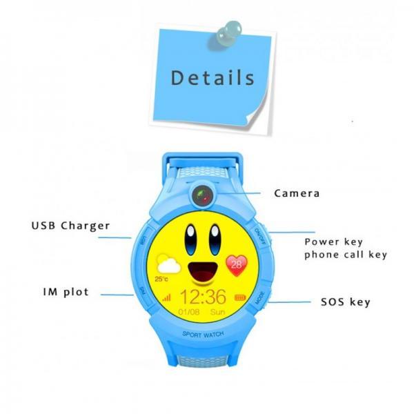 ceas-inteligent-pentru-copii-gw600-bleu-cu-telefon-localizare-gps-wifi-ecran-touchscreen-color-monitorizare-spion 4