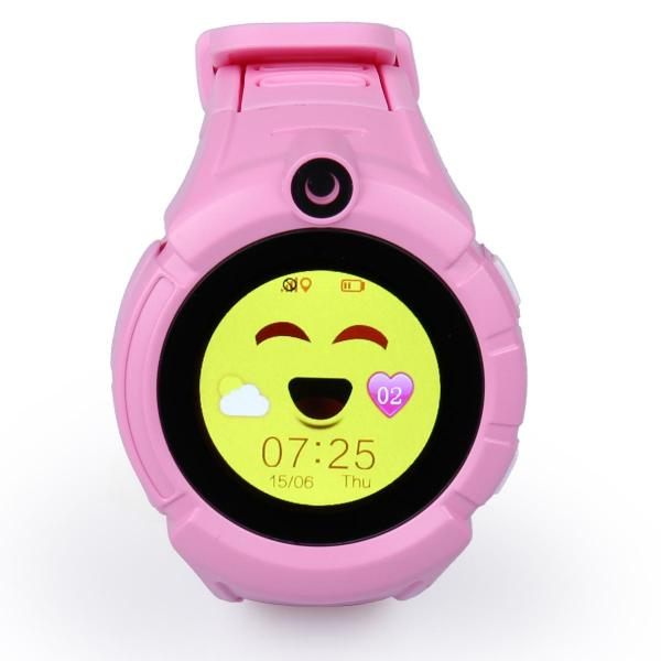 Ceas inteligent pentru copii WONLEX GW600 Roz cu GPS, telefon, localizare WiFi, ecran touchscreen color, monitorizare spion 0