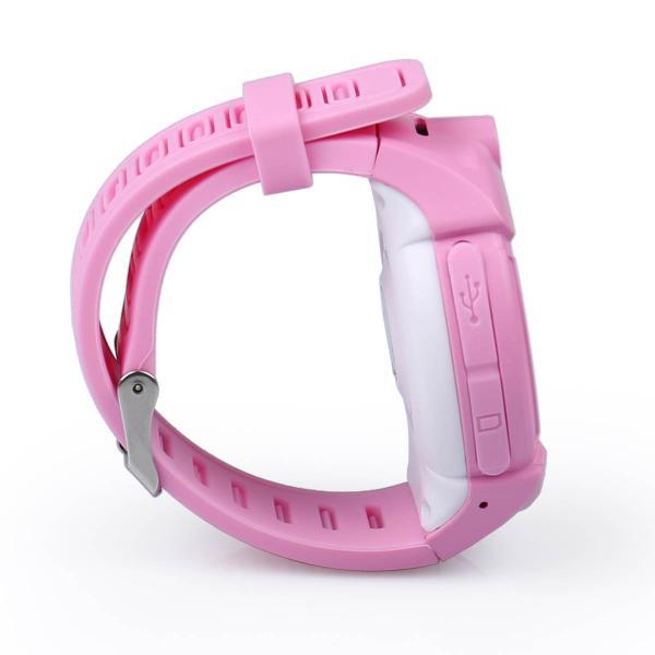 Ceas inteligent pentru copii WONLEX GW600 Roz cu GPS, telefon, localizare WiFi, ecran touchscreen color, monitorizare spion 4