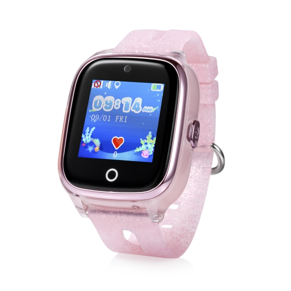 ceas-inteligent-pentru-copii-kt01-roz-rezistent-la-apa-cu-telefon-camera-foto-localizare-gps-wifi-ecran-touchscreen-color-monitorizare-spion 1