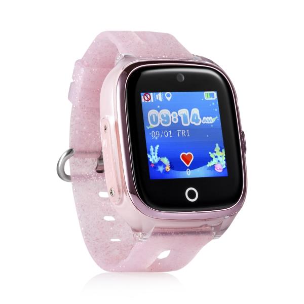 ceas-inteligent-pentru-copii-kt01-roz-rezistent-la-apa-cu-telefon-camera-foto-localizare-gps-wifi-ecran-touchscreen-color-monitorizare-spion 0
