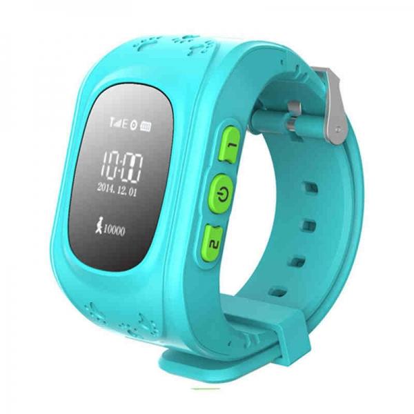 Ceas inteligent pentru copii Q50 Bleu cu telefon, localizare GPS si monitorizare spion