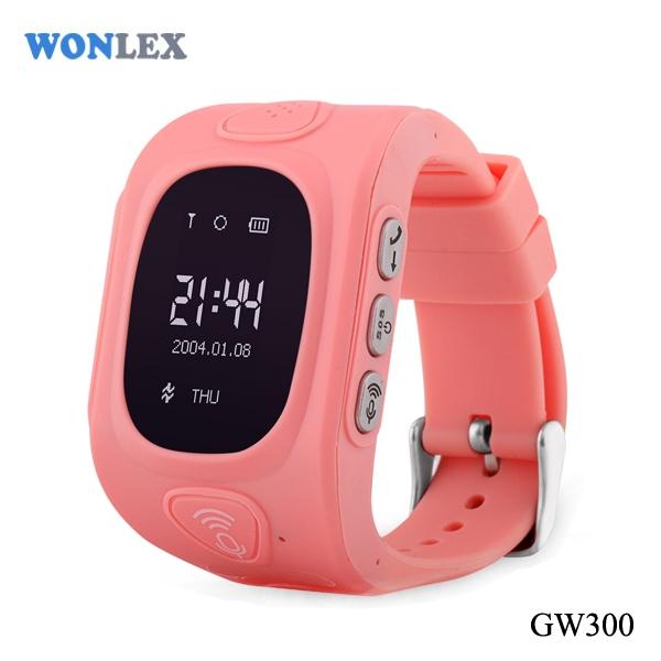Ceas inteligent pentru copii GW300 Roz cu telefon, localizare GPS&WiFi si monitorizare spion