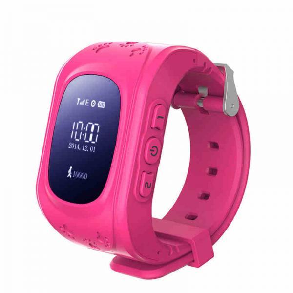 Ceas inteligent pentru copii WONLEX Q50 Roz cu GPS, telefon si monitorizare spion 0