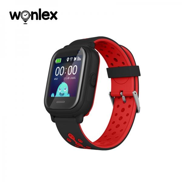 Ceas Inteligent cu GPS pentru copii WONLEX KT04 Negru, rezistent la apa, localizare WiFI si monitorizare spion 1