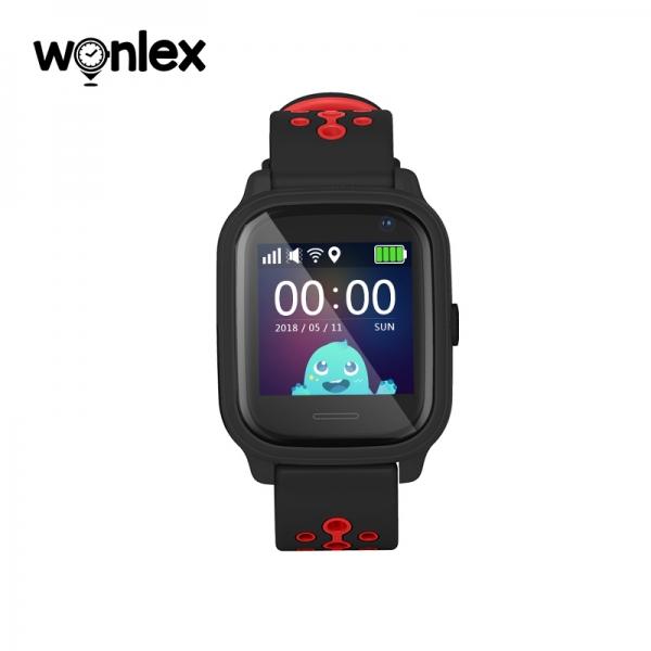 Ceas Inteligent cu GPS pentru copii WONLEX KT04 Negru, rezistent la apa, localizare WiFI si monitorizare spion 0
