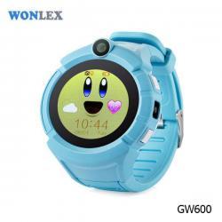 Ceas inteligent pentru copii GW600 Blue cu telefon, localizare GPS, WiFi, ecran touchscreen color, monitorizare spion