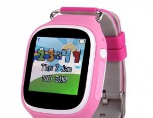Ceas inteligent pentru copii POPI Roz cu telefon, GPS, WIFI, touchscreen ,monitorizare spion - Copie